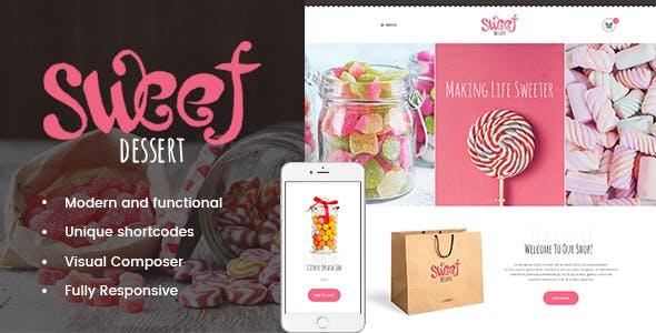 Sweet Dessert | Sweet Shop & Cafe WordPress Theme