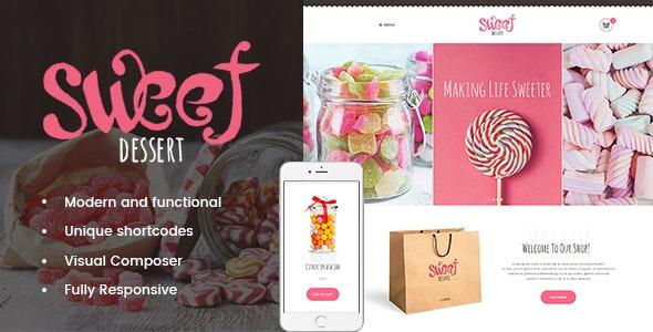 Sweet Dessert   Candy Shop & Cafe WordPress Theme - Food Retail