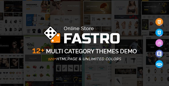 Fastro - E-Commerce Bootstrap Responsive Template - Retail Site Templates