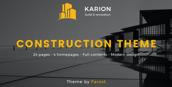 Karion - Construction & Building WordPress Theme