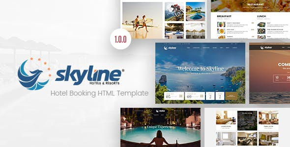 SkyLine - Hotel Booking HTML Template