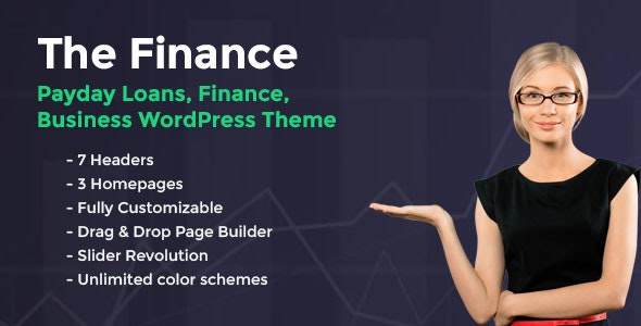 The Finance - Payday Loans WordPress Theme - Business Corporate