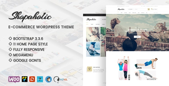 Shopaholic - Responsive Multipurpose eCommerce WordPress Theme - WooCommerce eCommerce