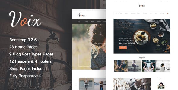VOIX - Clean & Modern, Responsive Personal Blogging HTML5 Template