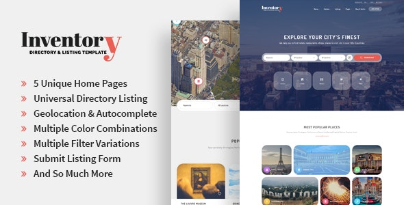 Inventory - Responsive Directory Geolocation & Listings HTML5 Template by Jewel_Theme