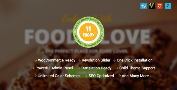 Foody - Responsive Food, Recipe Restaurant/Cafe WordPress Theme - Restaurants & Cafes Entertainment