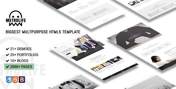 Metrolife - Responsive Multipurpose HTML5 Template - Corporate Site Templates