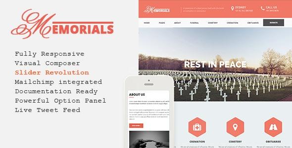 Memorials – Responsive Funeral WordPress Theme - Business Corporate