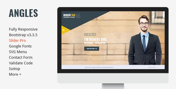 Angels – Clean & Creative vCard Portfolio Template - Virtual Business Card Personal