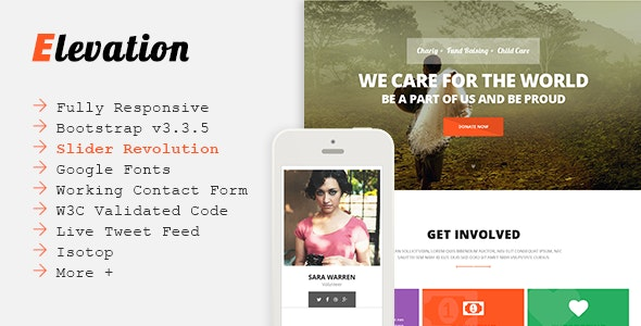 ELEVATION - Charity/Nonprofit/Fundraising Template - Charity Nonprofit