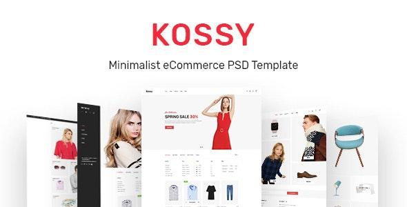 Kossy | Minimalist eCommerce PSD Template - Shopping Retail