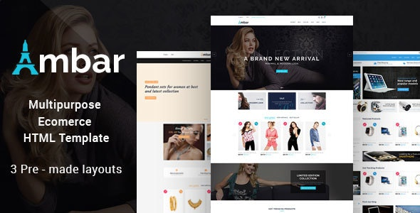 Ambar - Responsive Multipurpose E-Commerce HTML5 Template - Retail Site Templates