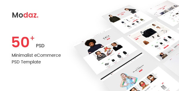 Modaz | Minimalist eCommerce PSD Template - Shopping Retail