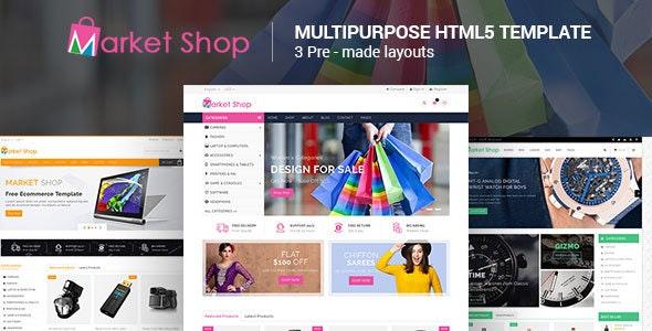 Marketshop - Responsive Multipurpose E-Commerce HTML5 Template - Retail Site Templates