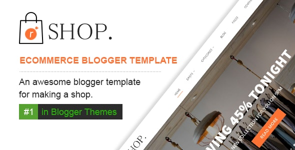 R-shop - Ecommerce Responsive Blogger Template. - Blogger Blogging