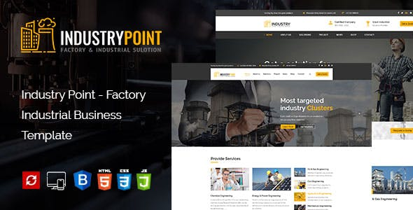 IndustryPoint Factory & Industrial HTML Template