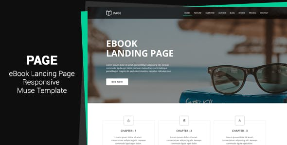 Page - EBook Landing Muse Template
