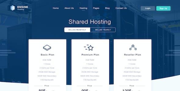 Engine Hosting - PSD Template