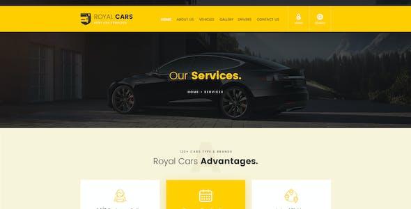 Royal Cars - Rent Car PSD Template