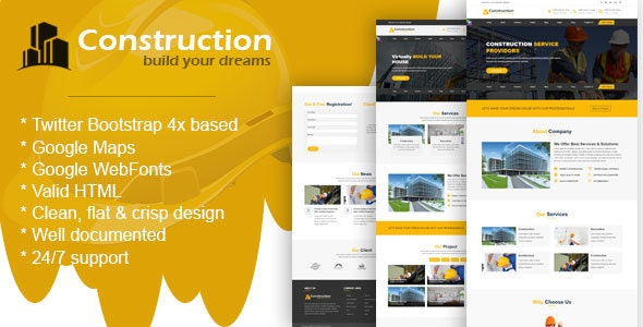 Construcz- Template for Architect and Construction - Business Corporate