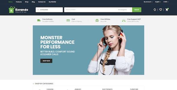 Korando - Multipurpose Theme for WooCommerce WordPress