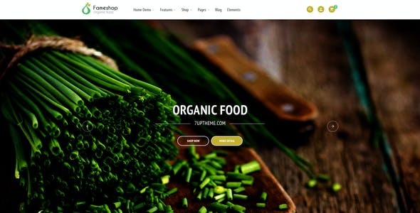 Fameshop - Organic, Bio WooCommerce WordPress Theme