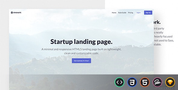 Emanate - Startup Landing Page - Creative Site Templates