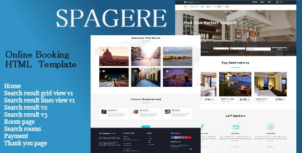 Spagere - Online Booking HTML Website Template - Site Templates