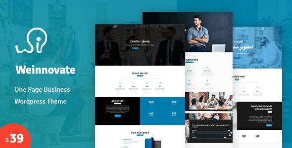 Weinnovate - One page Business WordPress Theme - Corporate WordPress