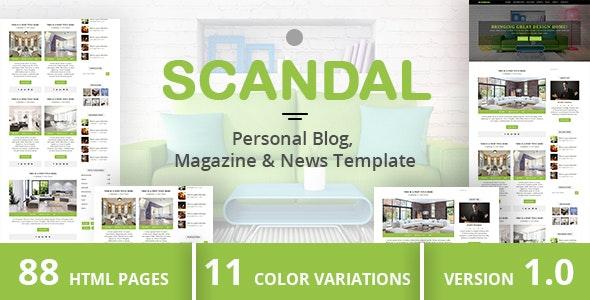SCANDAL - Personal Blog, Magazine & News Template - Travel Retail