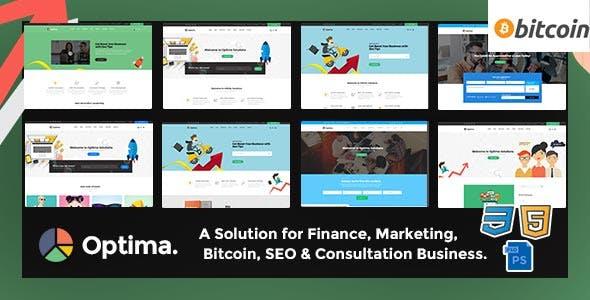 Optima - SEO, Marketing, Bitcoin, Agency Multiple HTML5 Template