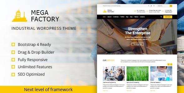mega factory fabrika wordpress teması