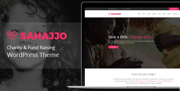 Sahajjo - Charity / Fundraising Nonprofit  WordPress Theme - Charity Nonprofit