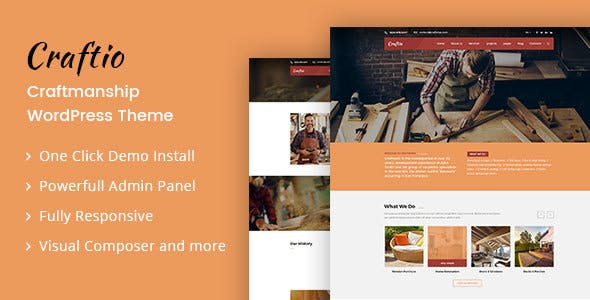 Craftio - Carpenter WordPress Theme