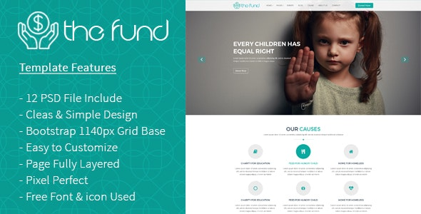 The Fund PSD Template - Charity Nonprofit