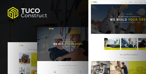 Tuco - Construction Building Company WordPress Theme - Business Corporate