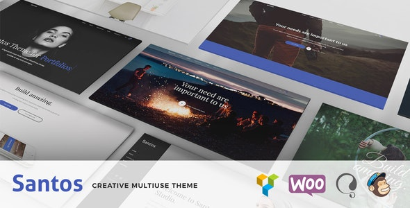Santos - Modern Multi-Purpose Theme - Creative WordPress