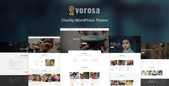 Vorosa - Nonprofit Charity WordPress Theme - Charity Nonprofit