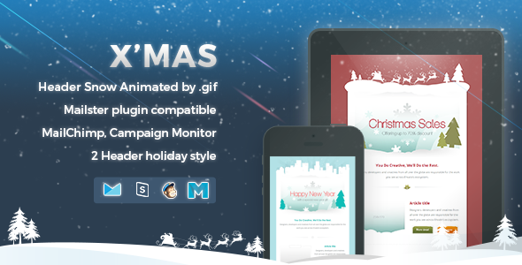 X'mas - Responsive Email Template - Newsletters Email Templates