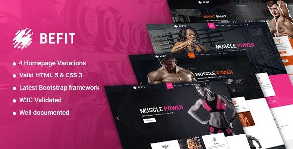 BeFit - Gym and Fitness HTML5 Template - Health & Beauty Retail