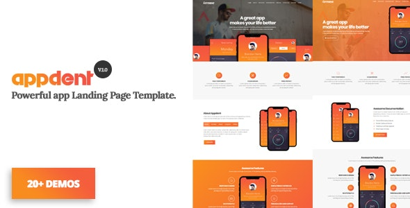 Appdent - App Landing Page - Apps Technology