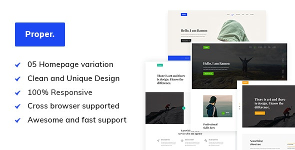 Proper - Personal Portfolio HTML5 Template - Portfolio Creative