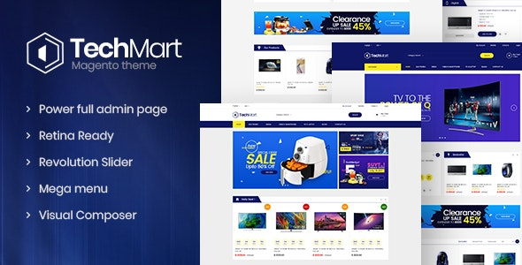 Techmart - Multi-Purpose Responsive Magento2 Theme - Technology Magento