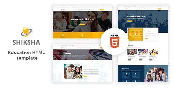 Education HTML Template - Shiksha - Nonprofit Site Templates