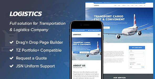 Logistics - Transportation & Logistics Joomla Template
