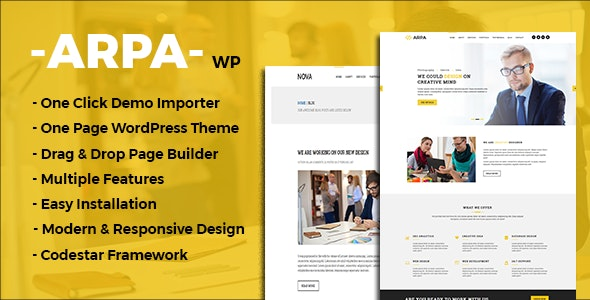 Arpa - One Page Business WordPress Theme - Business Corporate