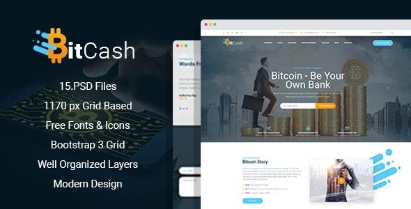 BitCash - Bitcoin PSD Template - Business Corporate