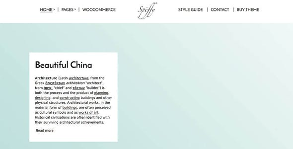 Spiffy - Elegant WooCommerce & WordPress Theme