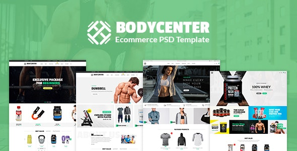 Bodycenter - eCommerce PSD Template - Retail Photoshop
