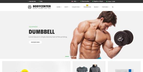 Bodycenter - eCommerce PSD Template